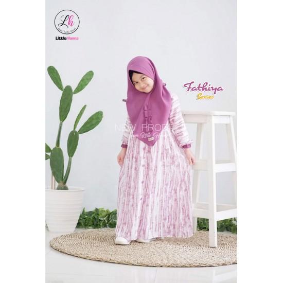 Gamis Anak Fathiya Series Purple