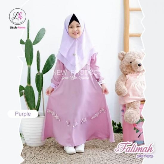 Gamis Anak Fatimah Series Purple