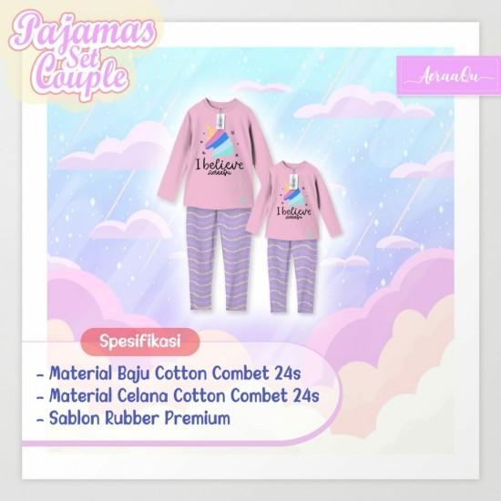 Pajamas Set Couple Aeraaqu Kids Pink