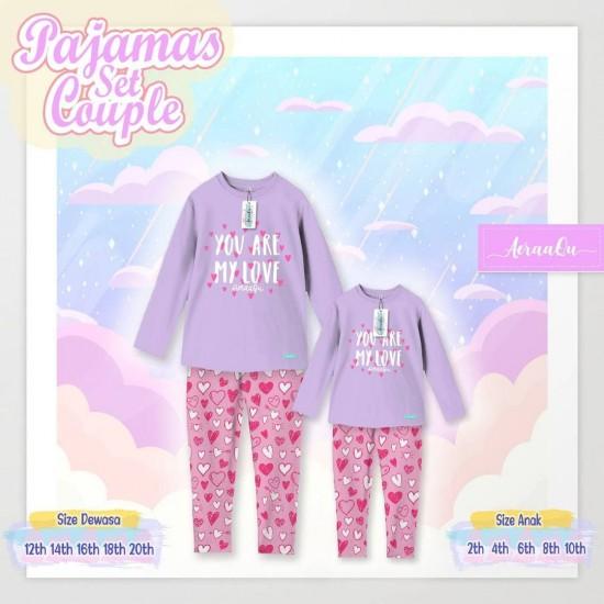 Pajamas Set Couple Aeraaqu Kids Purple
