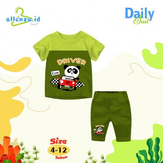 Baju Anak Daily Suit Allenza Boys Green Army