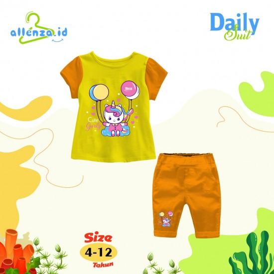 Baju Anak Daily Suit Allenza Girls Orange Yellow