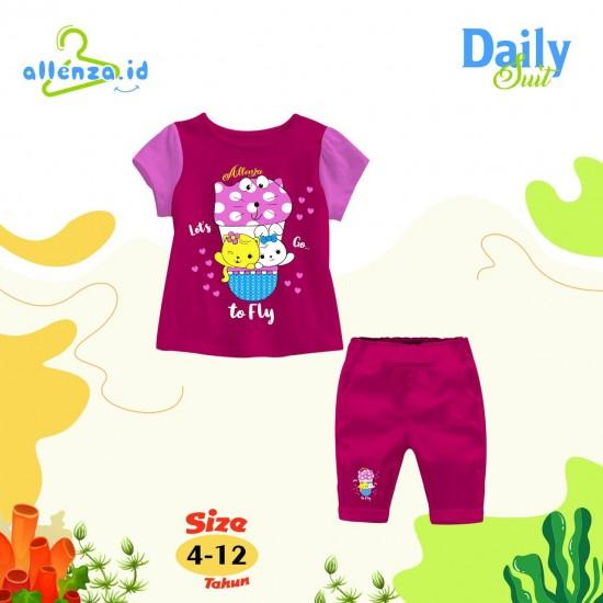 Baju Anak Daily Suit Allenza Girls Pink Fanta