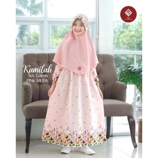 Gamis Anak Kamilah Series Pink Muda