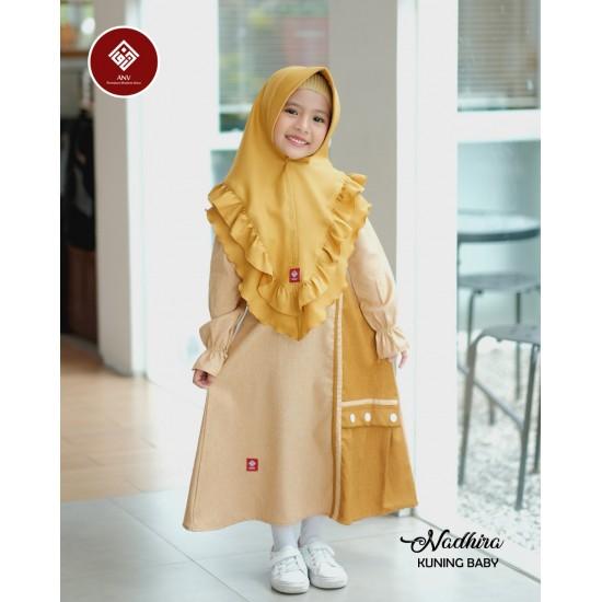Gamis Anak Nadhira Series Kuning Baby