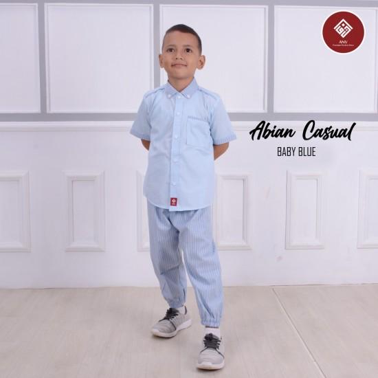 Baju Koko Anak Abian Series Baby Blue