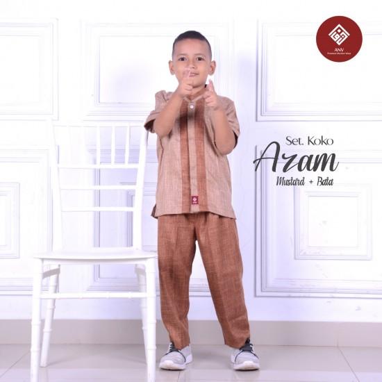 Baju Koko Anak Azam Series Mustard - Bata
