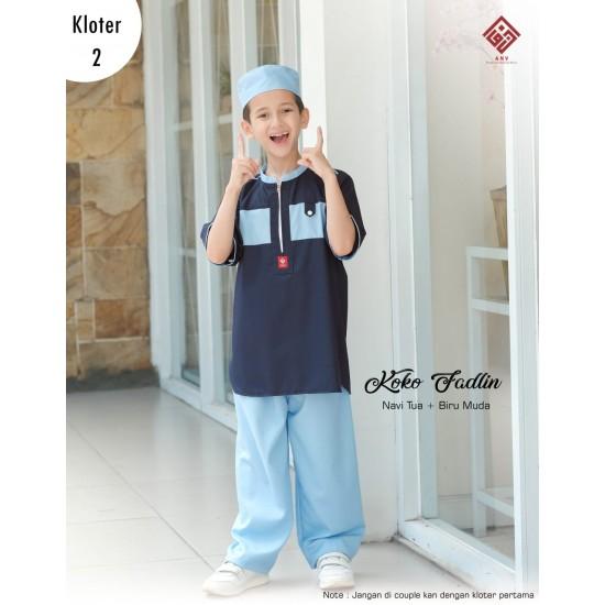 Koko Anak Fadlin Series Navy - Biru Muda