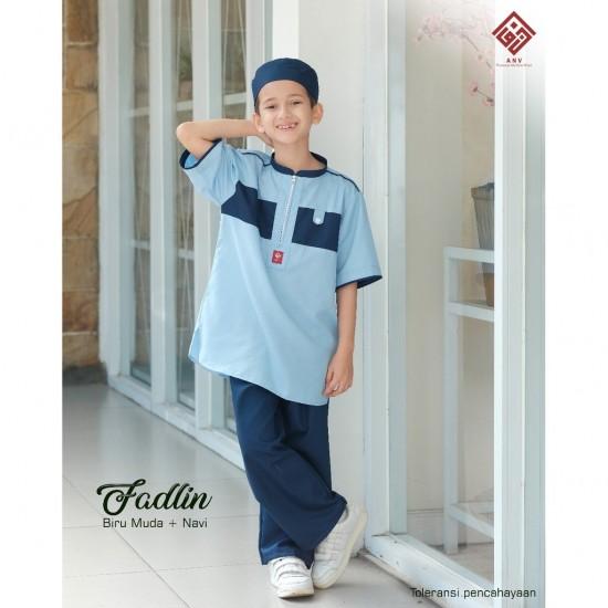 Koko Anak Fadlin Navy - Biru Muda
