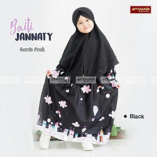Gamis Anak Baiti Jannaty Black