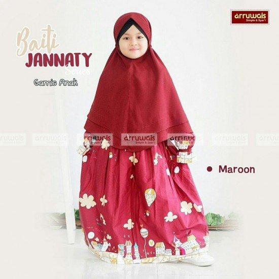 Gamis Anak Baiti Jannaty Maroon