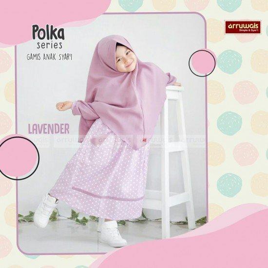 Gamis Polka Anak Lavender - Arruwais