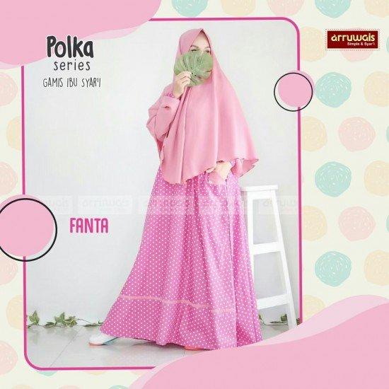 Gamis Polka Ibu Fanta - Arruwais