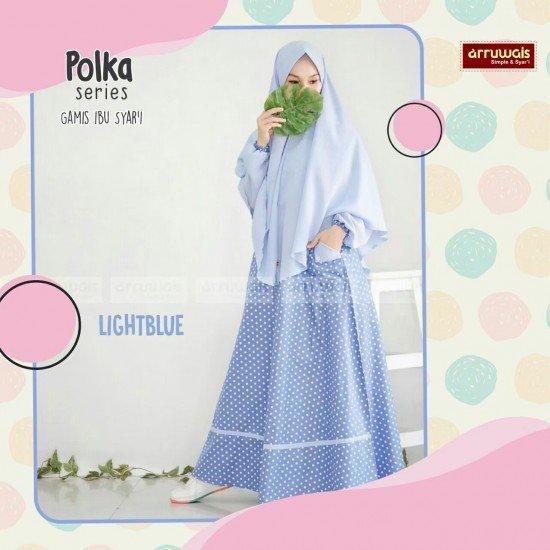 Gamis Polka Ibu LightBlue - Arruwais