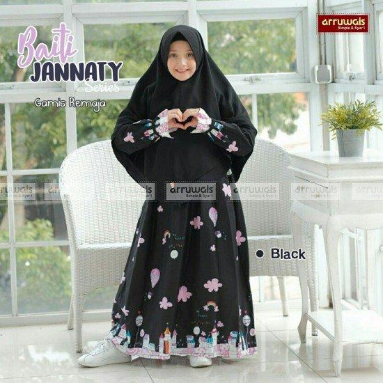 Gamis Remaja Baiti Jannaty Black