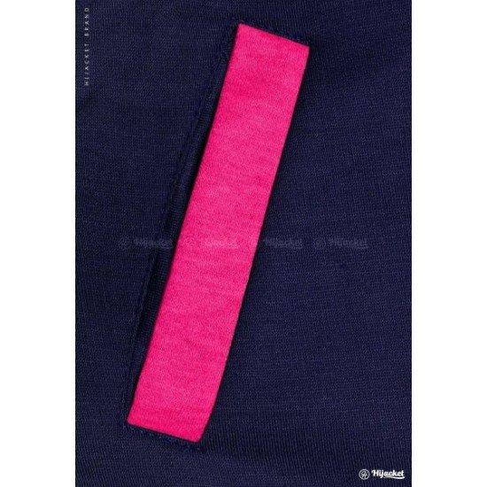 Hijacket Basic Navy Pink