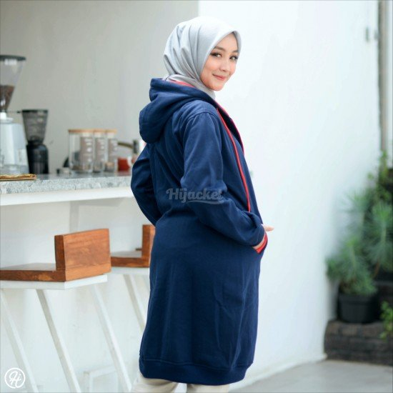 Hijacket Basic Navy Red