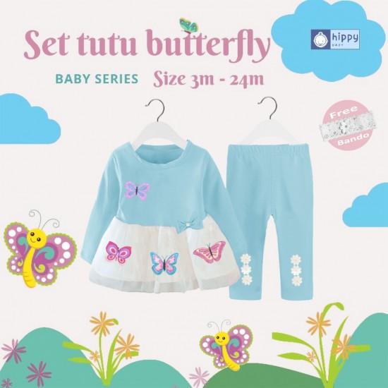 Set Tutu Butterfly Baby Blue
