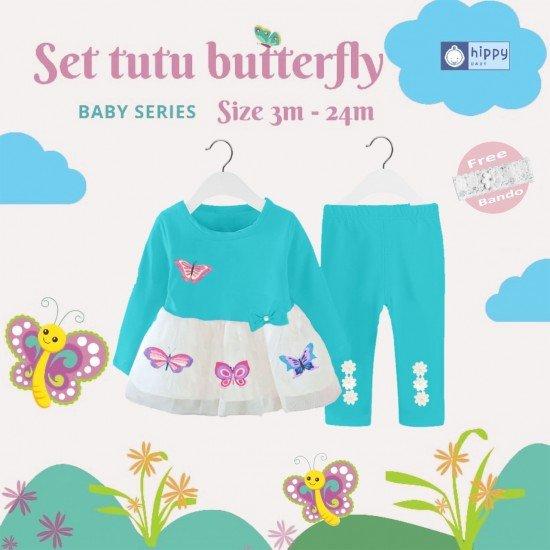 Set Tutu Butterfly Blue