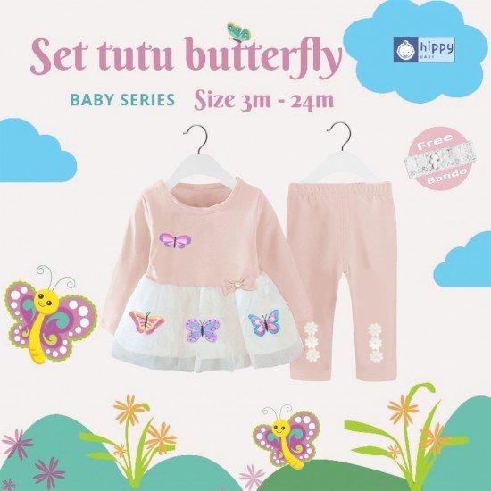 Set Tutu Butterfly Cream