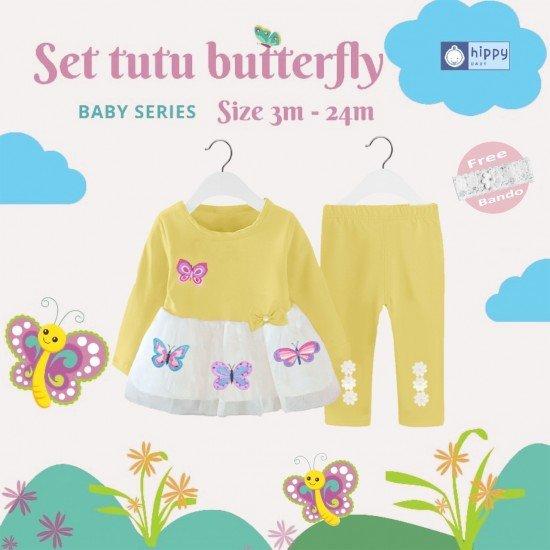 Set Tutu Butterfly Yellow