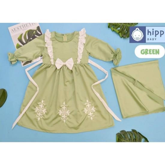 Gamis Anak Zhafira Series Green