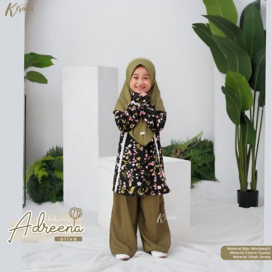 Gamis Anak Adreena Series Olive