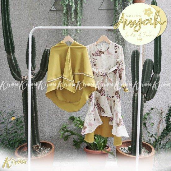 Gamis Anak Aisyah Series Lime