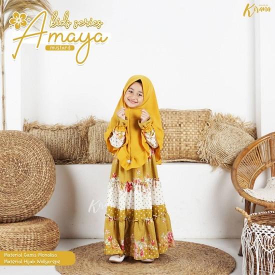 Gamis Anak Amaya Series Mustard