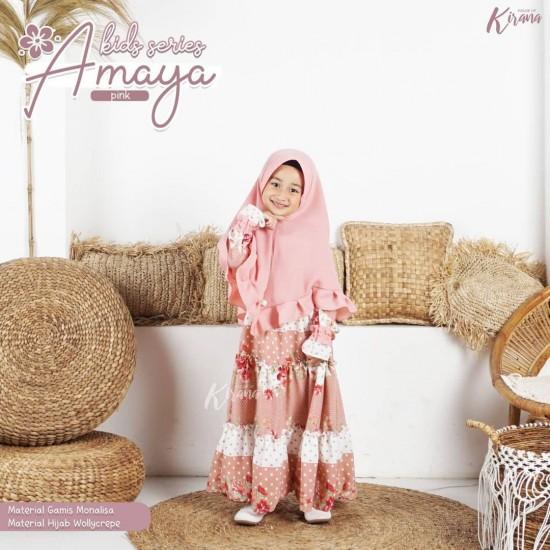 Gamis Anak Amaya Series Pink