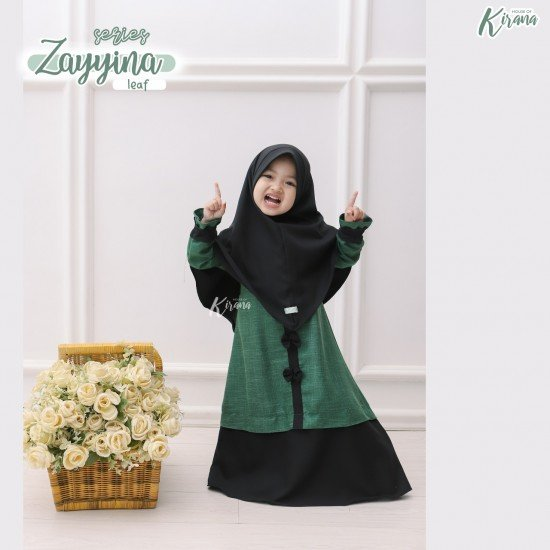 Gamis Anak Zayyina Series Leaf