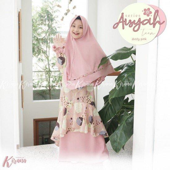 Gamis Remaja Aisyah Series Dusty Pink