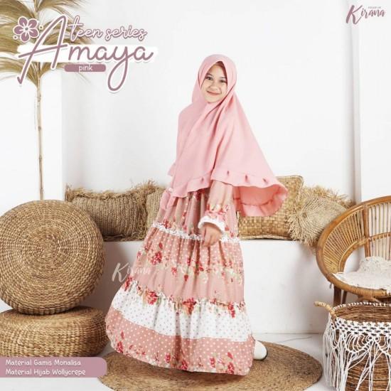 Gamis Remaja Amaya Series Pink