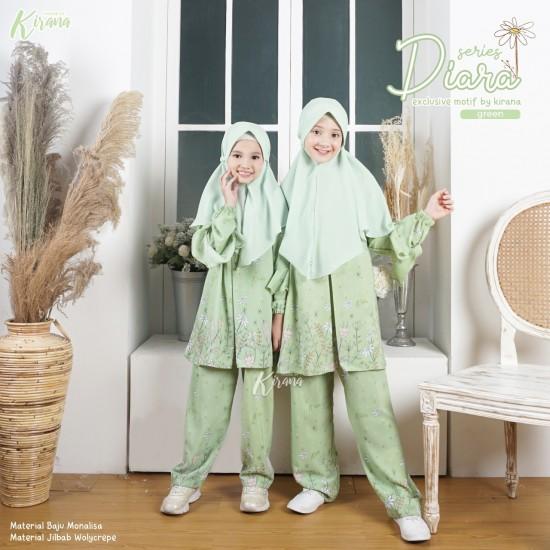 Home Dress Anak Diara Series Green
