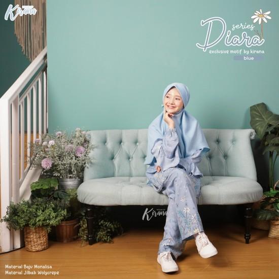 Home Dress Remaja Diara Series Blue