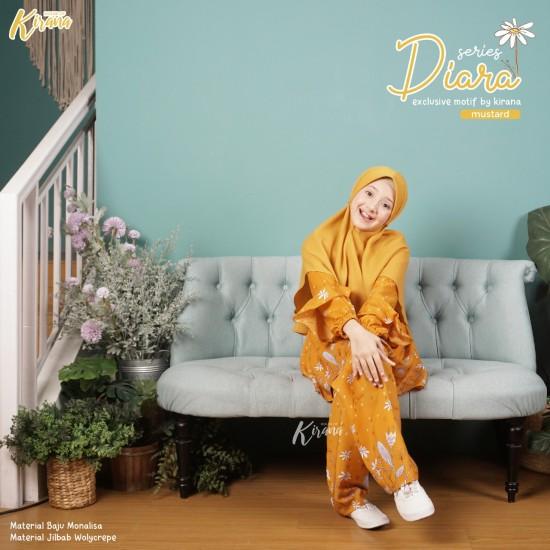 Home Dress Remaja Diara Series Mustard