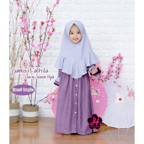 Gamis Anak Fathila Lova Sweet Purple