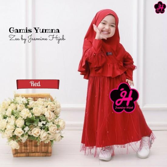 Gamis Anak Yumna Series Red
