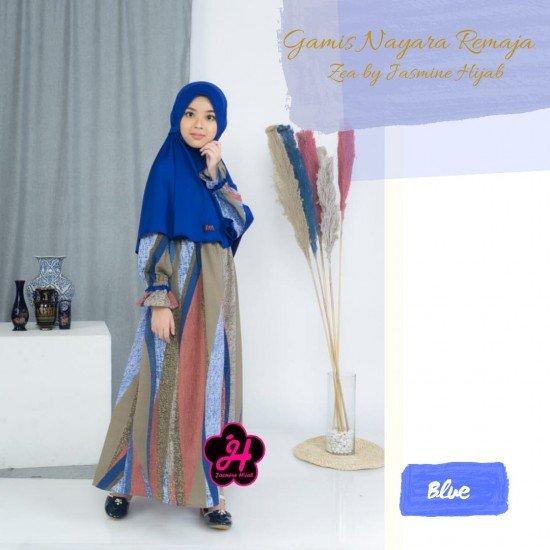 Gamis Remaja Nayara Series Blue