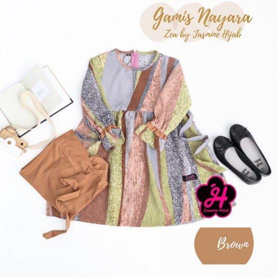 Gamis Remaja Nayara Series Brown