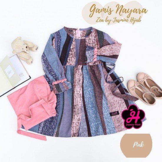 Gamis Remaja Nayara Series Pink