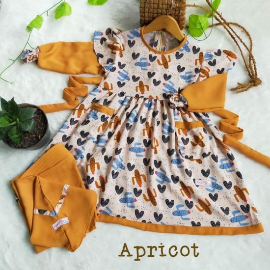Gamis Anak Sabhira Series Apricot