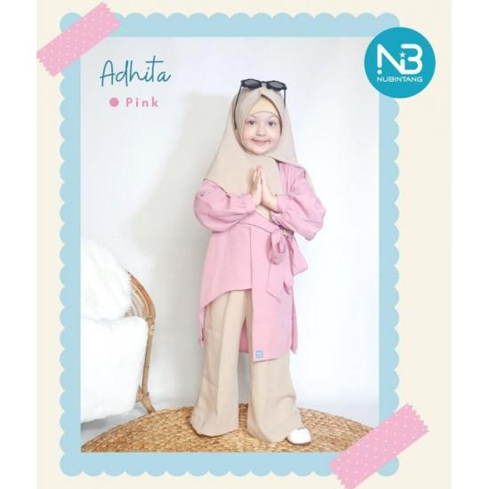 Gamis Anak Adhita Series Pink