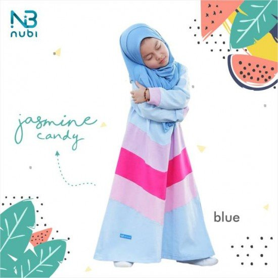 Gamis Anak Jasmine Candy Kids Blue