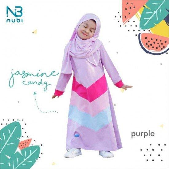 Gamis Anak Jasmine Candy Kids Purple