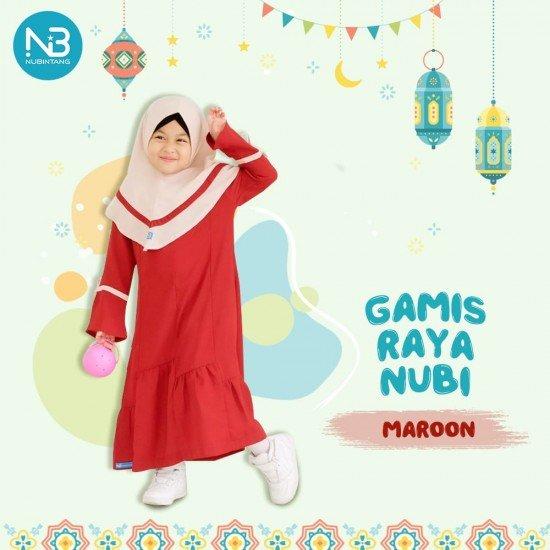 Gamis Anak Raya Kids Maroon