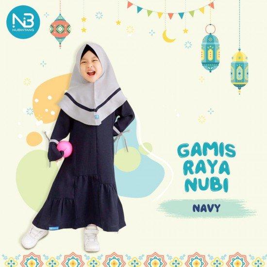 Gamis Anak Raya Kids Navy