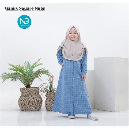 Gamis Anak Square Series Biru