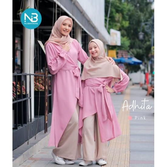 Gamis Dewasa Adhita Series Pink