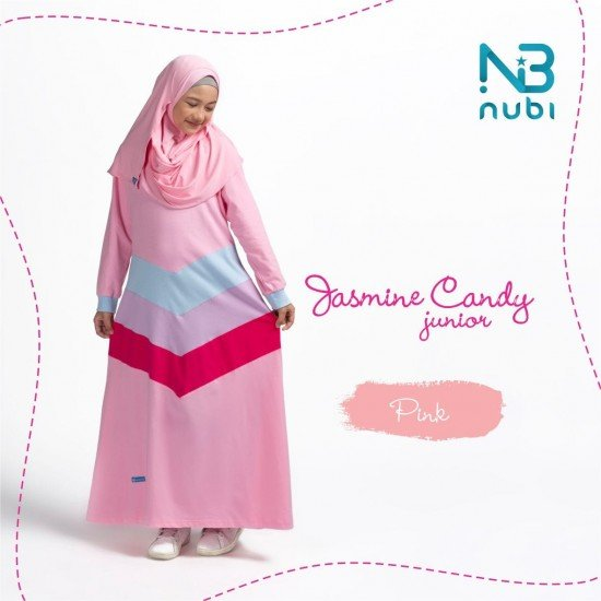 Gamis Remaja Jasmine Candy Junior Pink